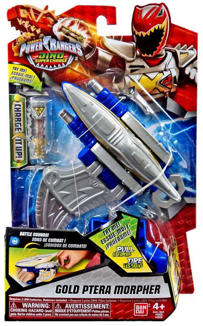 Power Rangers Dino Super Charge Gold Ptera Morpher Roleplay Toy