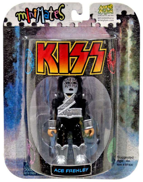Kiss Art Asylum MiniMates Ace Frehley Minifigure [Package Shows Wear from storage]