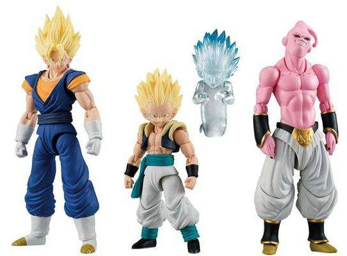 Dragon Ball Z Shokugan Neo Shodo Vegito, Evil Buu & Gotenks with Ghost Set of 3 PVC Figures