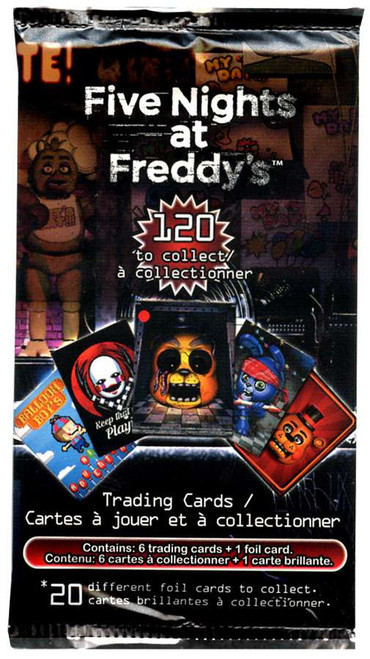 Five Nights at Freddy's Trading Card Pack [6 Cards + 1 Foil Card!]
