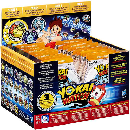 Yo-Kai Watch Series 4 YOKAI MEDALS Mystery Box [24 Packs]