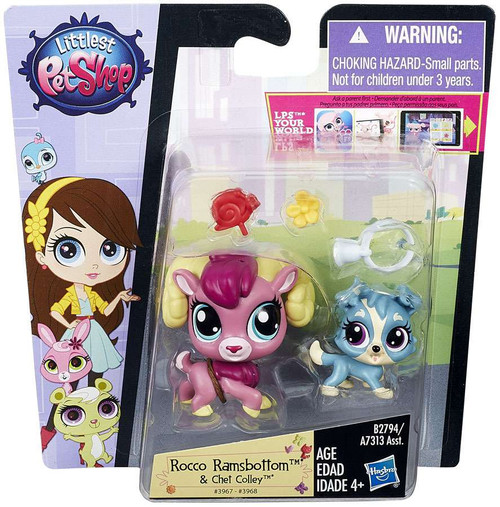 Littlest Pet Shop Pets in the City Rocco Ramsbottom & Chet Colley Figure 2-pack