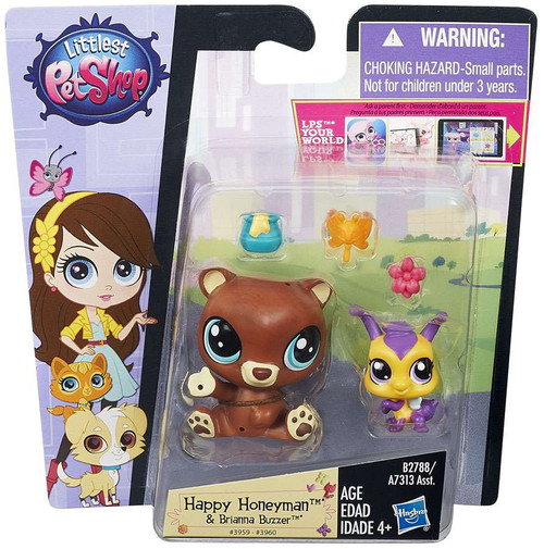 Littlest Pet Shop Pets in the City Happy Honeyman & Brianna Buzzer Figure 2-pack