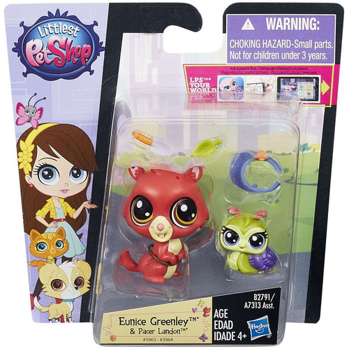 Littlest Pet Shop Pets in the City Eunice Greenley & Pacer Landon Figure 2-pack