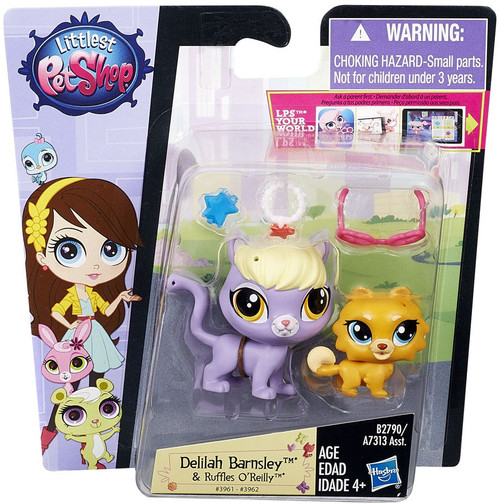 Littlest Pet Shop Pets in the City Delilah Barnsley & Ruffles O'Reilly Figure 2-pack