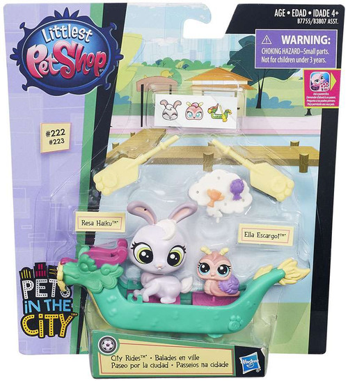 Littlest Pet Shop City Rides Resa Haiku & Ella Escargot Vehicle & Figure