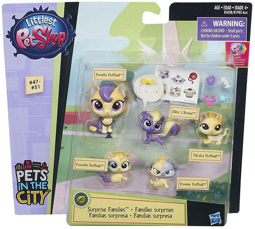 Littlest Pet Shop Surprise Families Calico Cats Mini Pet 5-Pack