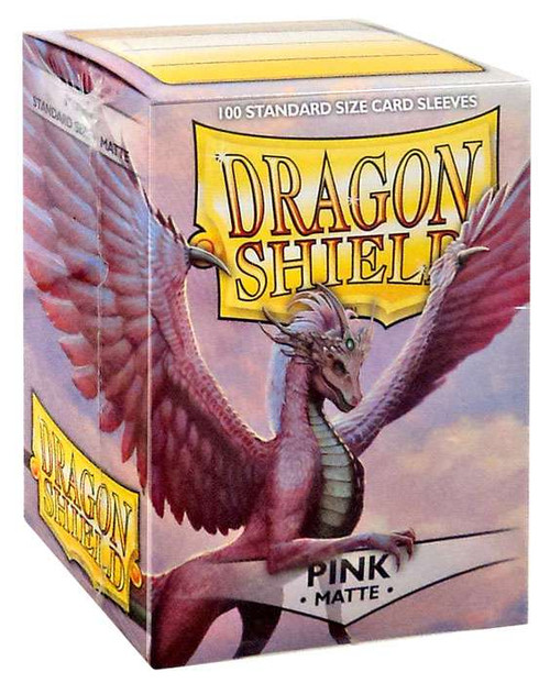 Card Supplies Dragon Shield Matte Pink Standard Card Sleeves [100 Count]