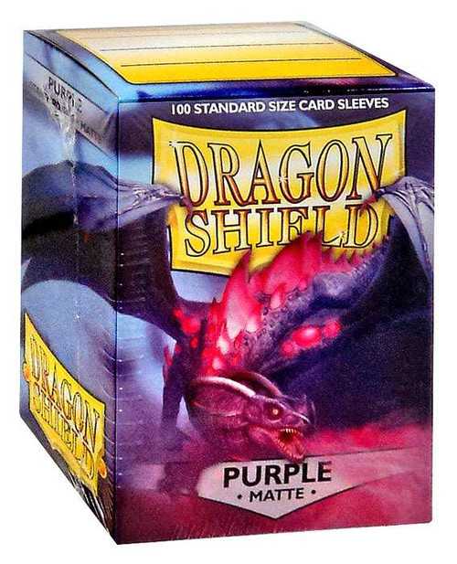 Card Supplies Dragon Shield Matte Purple Standard Card Sleeves [100 Count]