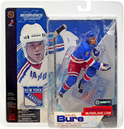 McFarlane Toys NHL New York Rangers Sports Picks Series 3 Pavel Bure Action Figure [Blue Jersey Variant]