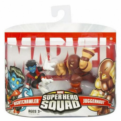 Marvel Super Hero Squad Series 4 Nightcrawler & Juggernaut 3-Inch Mini Figure 2-Pack