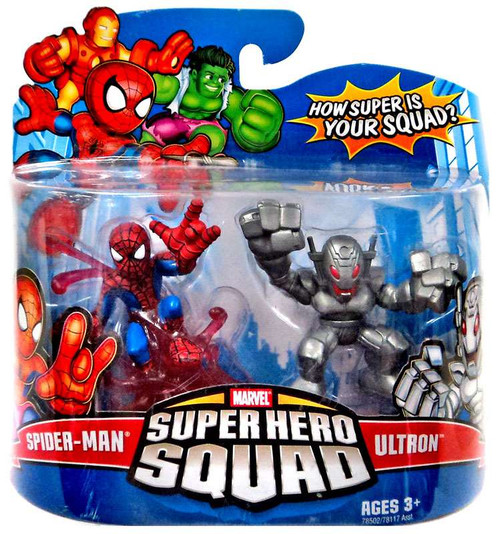 Marvel Super Hero Squad Series 10 Spider-Man & Ultron 3-Inch Mini Figure 2-Pack