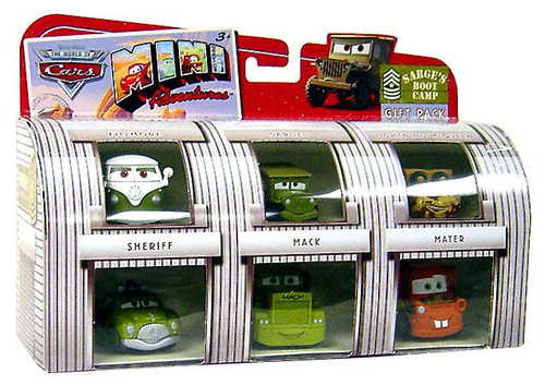 Disney / Pixar Cars The World of Cars Mini Adventures Sarge's Boot Camp Plastic Car Gift Pack
