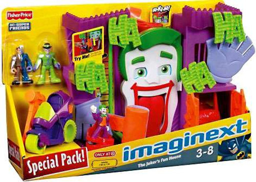 Fisher Price DC Super Friends Imaginext The Joker's Fun House Exclusive 3-Inch Figure Set [Special Pack]