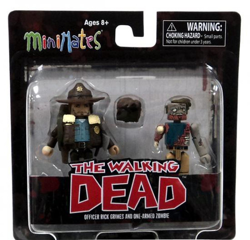 The Walking Dead Minimates Series 1 Officer Rick Grimes & One-Armed Zombie Minifigure 2-Pack
