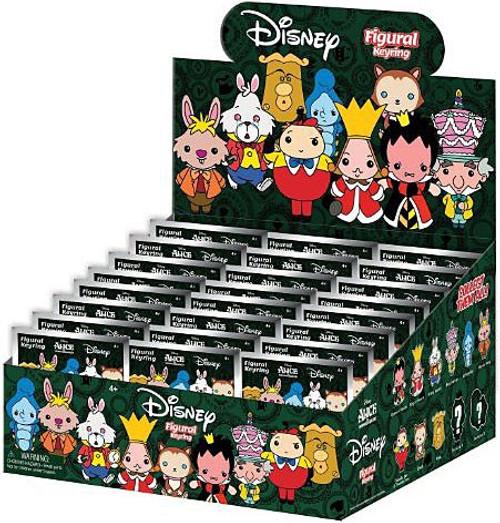 Disney 3D Figural Keyring Alice in Wonderland Mystery Box [24 Packs]