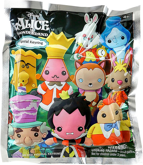 Disney 3D Figural Keyring Alice in Wonderland Mystery Pack [1 RANDOM Figure]
