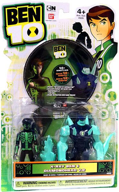 Ben 10 DVD Series X-Ray Ben & Diamondhead V.2 Action Figure 2-Pack [Damaged Package]