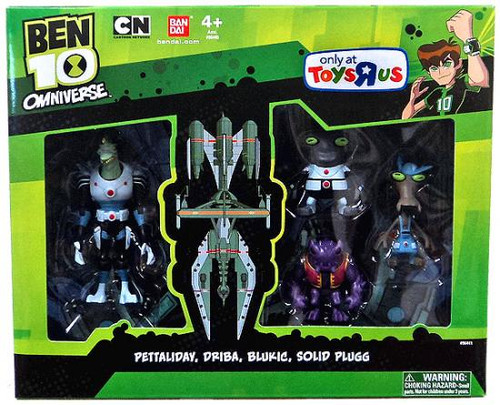 Ben 10 Omniverse Pettaliday, Driba, Blukic & Solid Plugg Exclusive Action Figure 4-Pack [Damaged Package]
