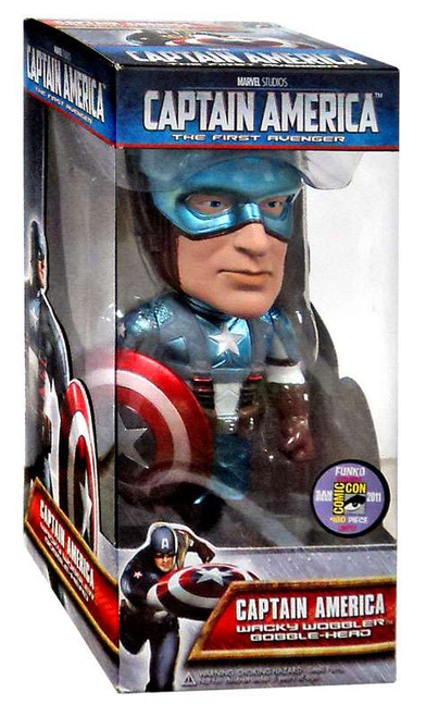 Funko The First Avenger Wacky Wobbler Captain America Exclusive Bobble Heads [Metallic]
