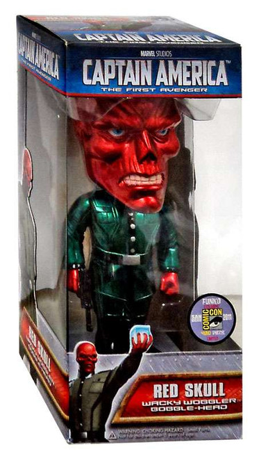 Funko Captain America The First Avenger Wacky Wobbler Red Skull Bobble Heads [Metallic]