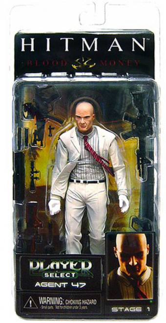 NECA Hitman Player Select Series 1 Agent 47 Action Figure [White Suit]
