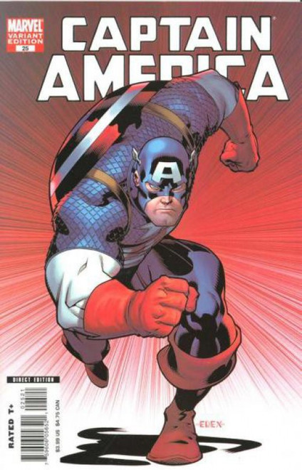 Marvel Comics Captain America #25 1st Printing Comic Book [Ed McGuinness Cover]