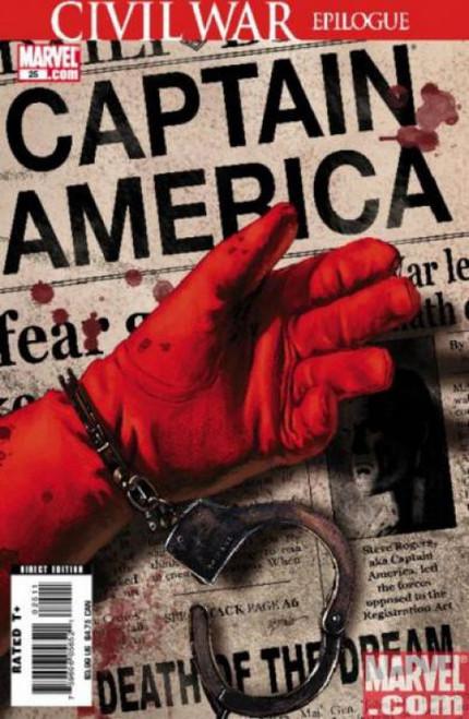 Marvel Comics Captain America #25 1st Printing Comic Book [Steve Epting Cover]