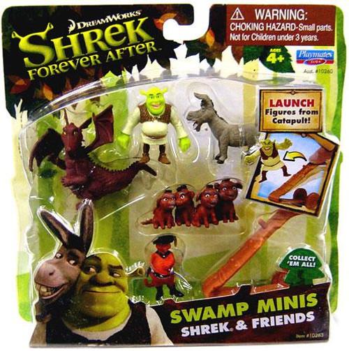 Forever After Swamp Minis Shrek & Friends Mini Figure Set