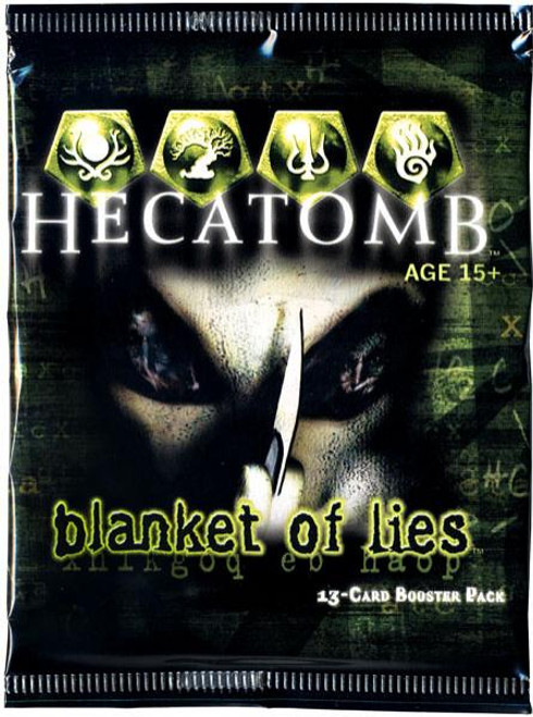 Hecatomb Trading Card Game Blanket of Lies Booster Pack [13 Cards]