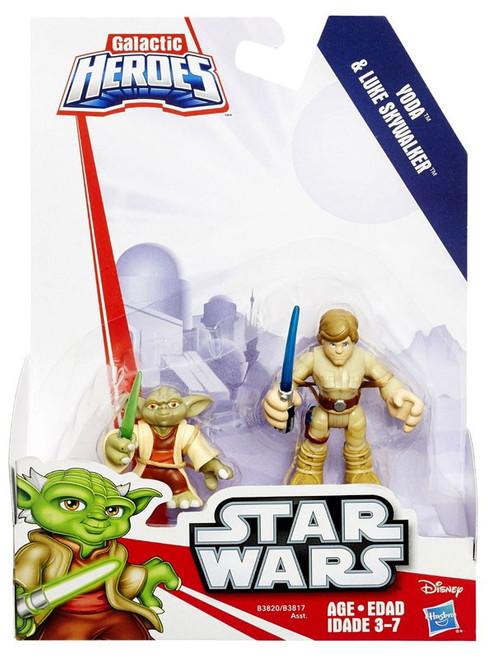 Star Wars Galactic Heroes Yoda & Luke Skywalker Mini Figure 2-Pack