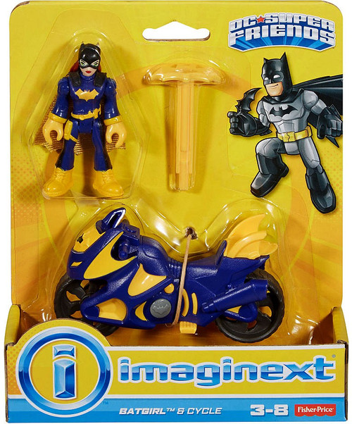 Fisher Price DC Super Friends Imaginext Batgirl & Cycle 3-Inch Figure Set