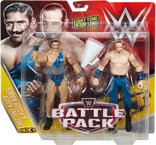 WWE Wrestling Battle Pack Series 41 Aiden English & Simon Gotch Action Figure 2-Pack [Vaudevillains]