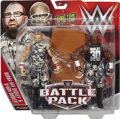 WWE Wrestling Battle Pack Series 41 Bubba Ray & D-Von Action Figure 2-Pack [Dudley Boyz]