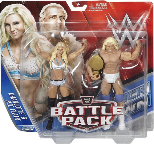 WWE Wrestling Battle Pack Series 41 Ric Flair & Charlotte Action Figure 2-Pack