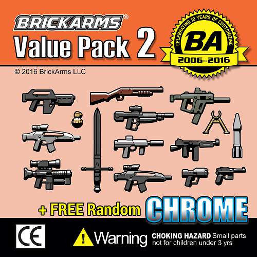 BrickArms Value Pack 2 2.5-Inch Weapons Pack