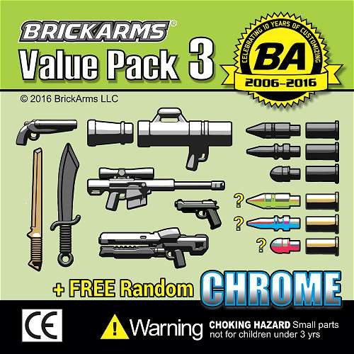 BrickArms Value Pack 3 2.5-Inch Weapons Pack