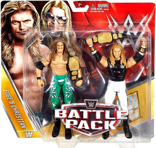 WWE Wrestling Battle Pack Series 42 Edge & Christian Action Figure 2-Pack