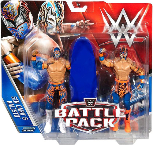WWE Wrestling Battle Pack Series 42 Sin Cara & Kalisto (Lucha Dragons) Action Figure 2-Pack