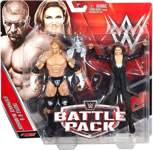 WWE Wrestling Battle Pack Series 42 Triple H & Stephanie McMahon Action Figure 2-Pack