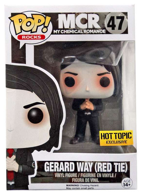 Funko My Chemical Romance POP! Rocks Gerard Way Exclusive Vinyl Figure #47 [Red Tie]
