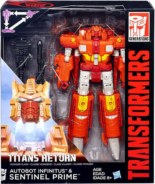 Transformers Generations Titans Return Sentinel Prime & Autobot Infinitus Voyager Action Figure