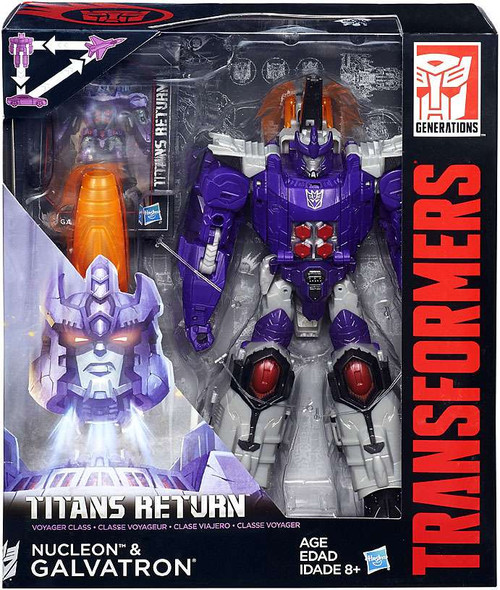 Transformers Generations Titans Return Galvatron & Nucleon Voyager Action Figure