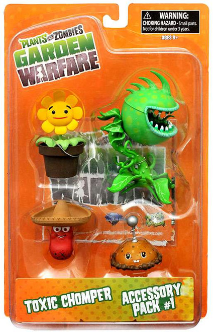 Plants vs. Zombies Garden Warfare Series 2 Toxic Chomper & Accessory Pack 1 Action Figure 2-Pack