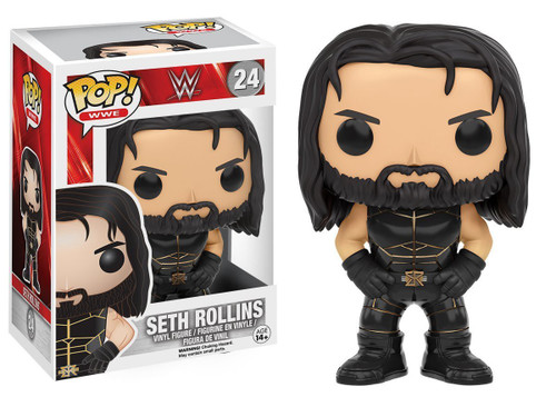 Funko WWE Wrestling POP! Sports Seth Rollins Vinyl Figure #24 [Black Outfit]