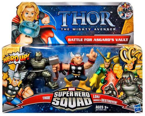 Marvel Thor The Mighty Avenger Super Hero Squad Battle for Asgard's Vault Action Figure Set