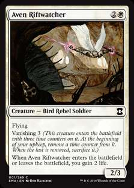 MtG Eternal Masters Common Aven Riftwatcher #1