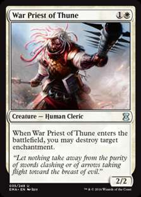 MtG Eternal Masters Uncommon War Priest of Thune #35