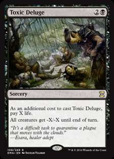 MtG Eternal Masters Rare Toxic Deluge #108