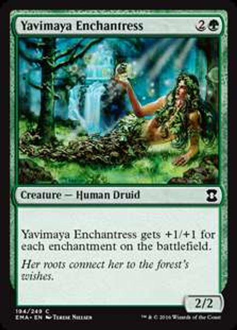 MtG Eternal Masters Common Yavimaya Enchantress #194